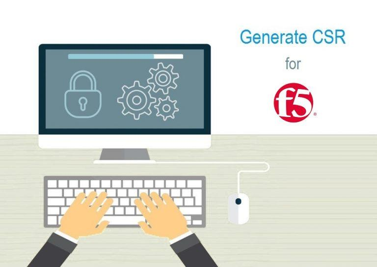 generate csr for f5 network
