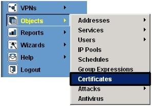SSL Installation objects certificates