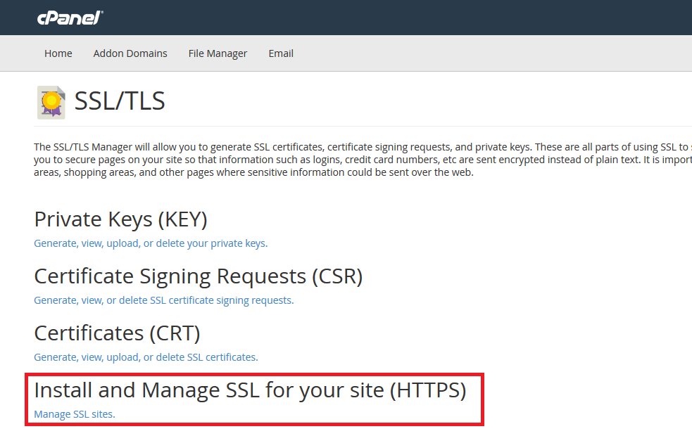 Install SSL Certificate for Your Site