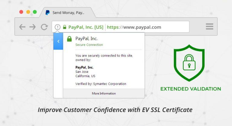 ev ssl certificate increase customer trust