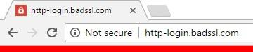 Google Chrome 56 insecure warning