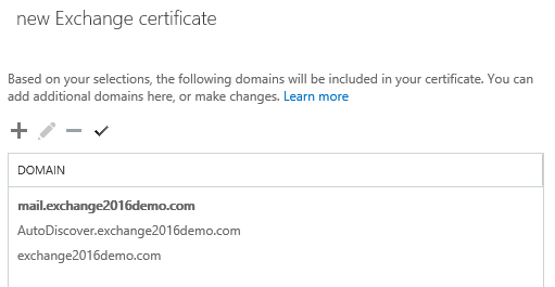 Edit or Delete Additional Domains on new Exchange certificate
