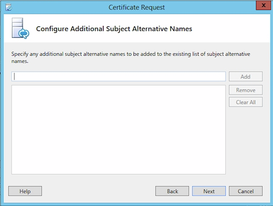 Configure Additional SANs