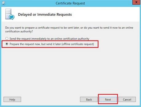 certificate request screenshot2
