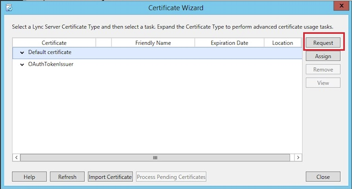 expand certificate type