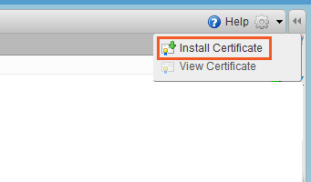 install certificate on Zimbra