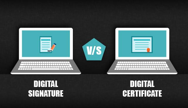 difference between digital certificate and digital signature