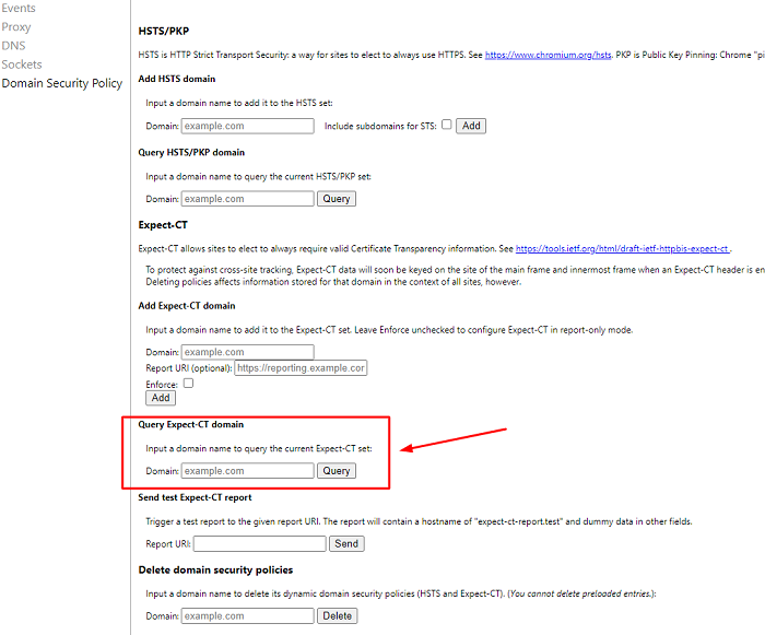 locate the query hsts-pkp domain field