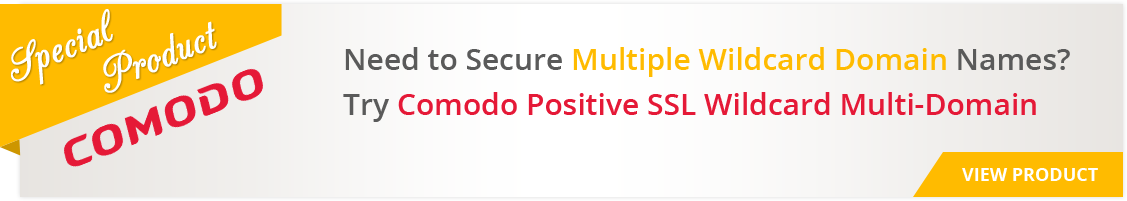 Comodo PositiveSSL Wildcard Multi-Domain